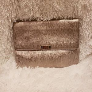 Cole Haan Leather Pevbled Clutch
